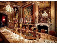 dining manor table england english grand homes historic interior fantasy dinning area fine