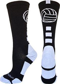 Volleyball Logo Crew Socks (Black/White, Medium) MadSportsStuff http://www.amazon.com/dp/B012HEXVCA/ref=cm_sw_r_pi_dp_cSulwb1VF13KG