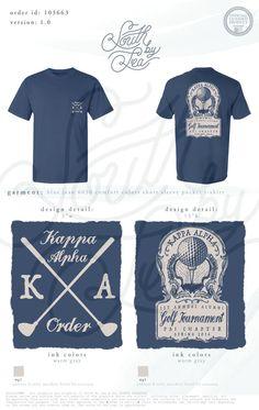 Kappa Alpha | KA | Golf Tournament | Psi Chapter | Alumni Golf Tournament T-Shirt | Vingage T-Shirt Design South by Sea | Greek Tee Shirts | Greek Tank Tops | Custom Apparel Design | Custom Greek Apparel | Fraternity Tee Shirts | Fraternity Tanks | Fraternity Shirt Designs