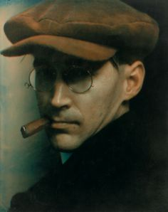 Man With Cap and Cigar, 1915  by Edward Steichen (colourized ?)