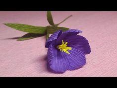 How to Make Crocus Crepe Paper flowers - Flower Making of Crepe Paper - Paper Flower Tutorial - YouTube