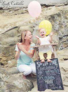 Chalk First Birthday Girl