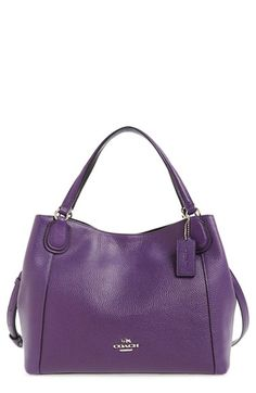 COACH 'Edie 28' Pebbled Leather Shoulder Bag available at #Nordstrom