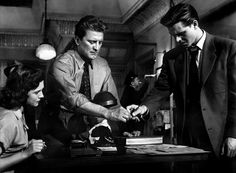 Kirk Douglas, Craig Hill, and Cathy O'Donnell in Detective Story (1951)