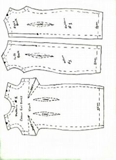 Free Barbie doll clothes patterns for a dress.