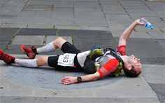 Damian Hall at the finish of 2013's Cotswold Way Century 102-mile ultramarathon