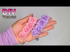 19 Trendy flowers diy fabric how to make Easy Fabric Flowers, Satin Ribbon Flowers, Fabric Flower Tutorial, Fabric Roses, Ribbon Art, Diy Ribbon, Diy Flowers, Flower Hair Bows, Flower Video