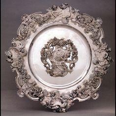 Maynard Dish by Maynard Master working for Paul de Lamerie, 1736/37. Victoria & Albert Museum