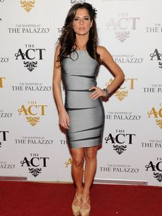 Kelly Monaco's silver and black bandage dress is a showstopper!