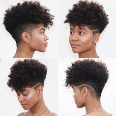 Undercut Natural Hair, Natural Hair Short Cuts, Tapered Natural Hair, Short Hair Cuts, Natural Hair Styles, Nape Undercut, Natural Hair Haircuts, Shaved Hair Designs, Natural Hair Inspiration