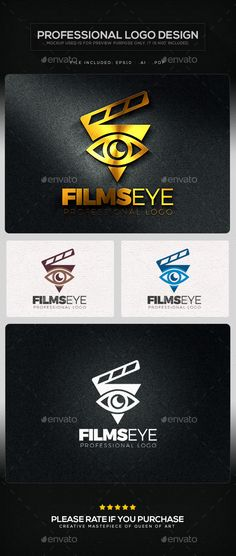 Films Eye Logo Template (AI Illustrator, Resizable, CS, 2015 logo, attractive, best logo, business, business logo, cmyk, corporate, creative, creative logo, eye, film, fine, logo template, media, multimedia, nice, object, optical, print, production, ready, studio, stylish, unique, web logo)