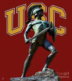 USC Tommy Trojan, can't wait for kickoff!