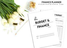 Finance Planner Printable Budget Planner Household Planner
