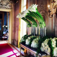 Jeff Leatham arrangements at the Ritz Paris