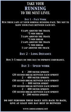 I like how the long distance run is 3-5 miles... I wish my easy run was only 3-5 miles!! ha gotta love running