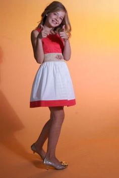 Jackie Evancho. . .the dress is cute it just needs to be a little longer...