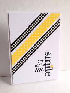 Yellow Smile Washi tape card