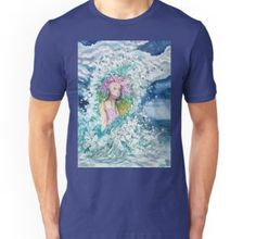 """Mermaid ocean storm"" by jurast Ocean Storm, Ocean Life, V Neck T Shirt, Classic T Shirts, Mermaid, Hoodies, Mens Tops, Art, Fashion"