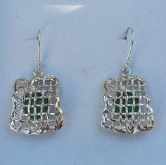 Silver Aventurine Earrings Sterling Silver Dangle Earrings
