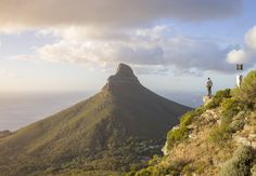 This is surely one of the best sunset locations in Cape Town. With just a 20 minute hike up the mountain you get sunset views of the city centre, Lions Head, Camps Bay, and the 12 Apostles. Hd Photos, Nature Photos, Cyndi Lauper, Best Sunset, Thing 1 Thing 2, Cape Town, Monument Valley, South Africa, Hiking
