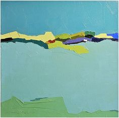 """""""Turquoise Dreams"""" by Donna Walker, $900, 16"""" x 16"""", available at #serenaandlily. #artcollection"""