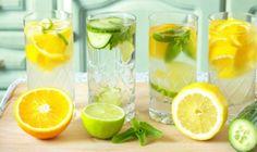 Morning RX - Drinking Lemon Water In The Morning. BENEFITS: Lemon water can help cure acne. Lemon water helps you lose weight. Lemon water helps with GERD. Citrus Water, Drinking Lemon Water, Infused Water, Cucumber Water, Water Infusion, Fruit Water, Fruit Juice, Fresh Fruit, Bebidas Detox