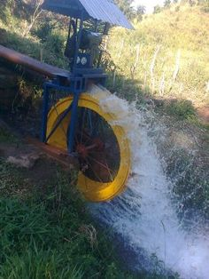 Alternative Power Sources, Alternative Energy, Water Wheel Generator, Pond Habitat, Air Cannon, Heating A Greenhouse, Water Turbine, Diy Water Feature, Hydroelectric Power