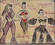Selena sketches. Very cool.