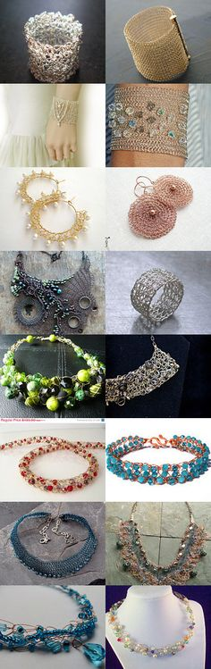 Wire Crochet  by Caitlin Stevens on Etsy--Pinned with TreasuryPin.com