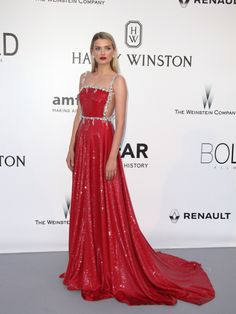 Lily Donaldson, in Prada attends the amFAR 2016 in Cannes