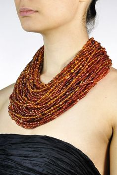 Monies Amber Multi Strand Necklace » Santa Fe Dry Goods | Clothing and accessories from designers including Issey Miyake, Rundholz, Yoshi Yo...