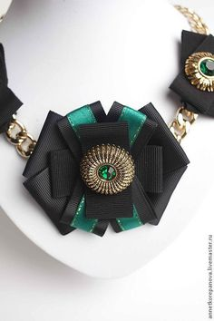 Annet Korepanova accessories Колье  Emerald gold