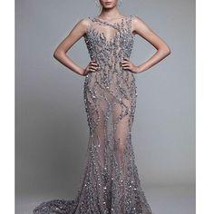 Mermaid party dresses see through floor length luxury prom dresses D24
