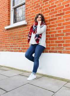 Look: Weekend - #fashion #look #blogger #outfit #style #streetstyle #zara #scarf #stansmith #adidas