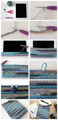 Make a self-striping crochet cover for your iPad in this easy step-by-step…