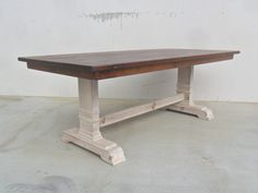 Dining Table Reclaimed Wood Trestle Table Rustic Salvaged