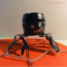 Baga Kreatív oldala: Halloween dekoráció joghurtos palackból - Probiotikus pók, szellem és denevér