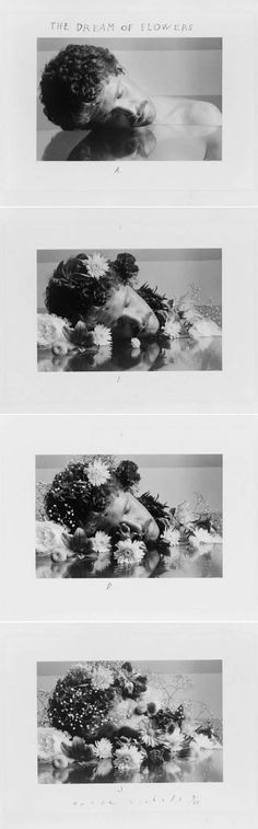 Duane Michals, The Dream of Flowers, 1986. 4 photographic prints : gelatin silver. Library of Congress   http://www.loc.gov/pictures/item/97517896/