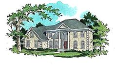 Elevation of Colonial   Southern   House Plan 89381