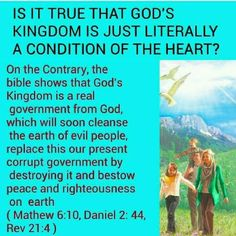 Is it true that God's Kingdom is just literally a condition of the heart?