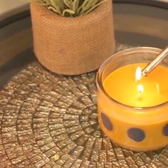 Martha Stewart's glass paint is an element that you can use on candles and other items in your home.