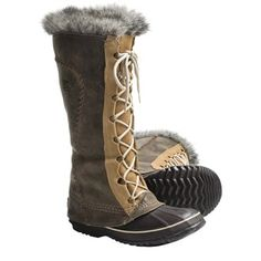 Sorel Cate the Great Boots - Waterproof, Insulated (For Women) in Curry/Biscotti