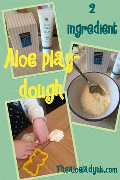 Forever living aloe gelly inspired play dough. look what Ive been making this half term with the kids. Its great for sensory play with the little ones and ideal for sensitive skin as normal dough can dry skin or aggravate skin conditions. Www.thealoeladyuk.com