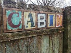 Large Rustic CABIN Reclaimed Wood Sign W/ by UniquePrimtiques