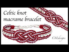 Celtic knot macrame bracelet - YouTube