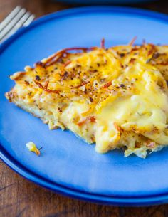 Creamy and Crisphy Hash Browns Frittata
