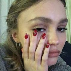 Lily Rose Melody Depp, Lily Rose Depp Style, Cute Nails, Pretty Nails, Lily Depp, Inka Williams, Lange Blonde, Minimalist Nails, Dream Nails