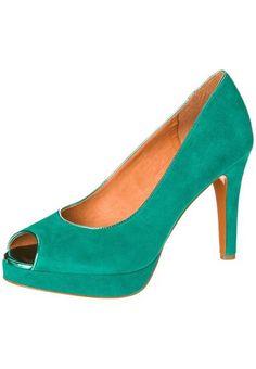 Carma Shoes High Heel Peeptoe emerald green von Carma Shoes