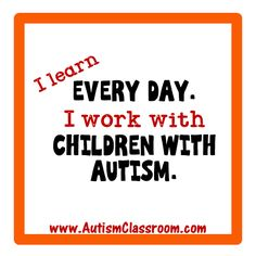 Autism teachers, para-professionals, 1:1 aides and administrators #autism #support #teachers #specialed #iteachsped