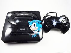 CUSTOM Sonic Sega Console and Controller  by 8BitEvolutionEtsy, $150.00